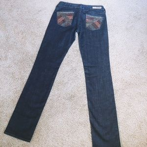 Express Stella sequin skinny leg jeans